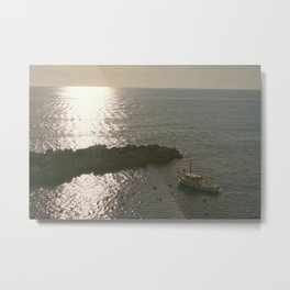 Fishing Liguria at Sunset Metal Print