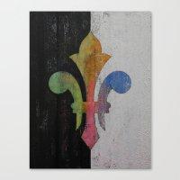 fleur de lis Canvas Prints featuring Fleur de Lis by Michael Creese