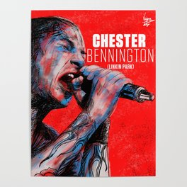 homenaje a chester LP Poster