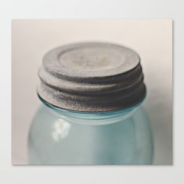 Vintage Mason Jar 2 Canvas Print