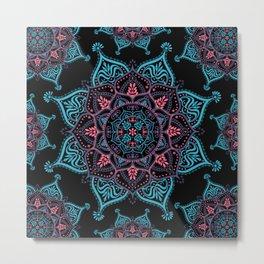Boho Bliss Mandala Metal Print