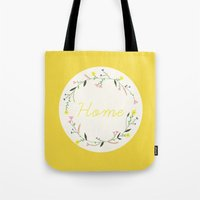 home sweet home Tote Bags featuring Home by Babiole Design