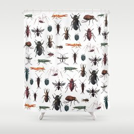 Color Insects Pattern Shower Curtain