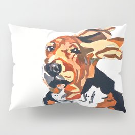 Basset Hound Flying Ears Portrait Pillow Sham