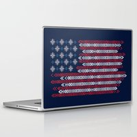 patriots Laptop & iPad Skins featuring Native Patriots by Steven Toang