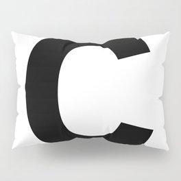Letter C (Black & White) Pillow Sham
