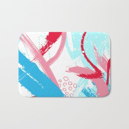 Expressive red Bath Mat