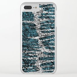 Textured brushstrokes - Sarah Bagshaw Clear iPhone Case