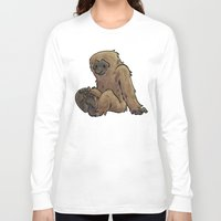 bigfoot Long Sleeve T-shirts featuring Bigfoot by Savannah Horrocks