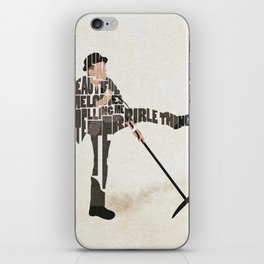 Typography Art of Tom Waits iPhone Skin