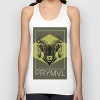 ram Tank Tops featuring Ram by Ryan Ingram