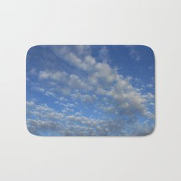 Cloudy sky Bath Mat