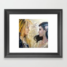 Labyrinth When The world falls... Framed Art Print