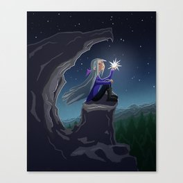 Girl who Stole a Star Canvas Print