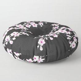 Pink Black Cherry Blossom Floor Pillow