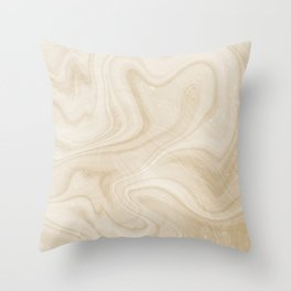 Gold Swirl Marble Throw Pillow