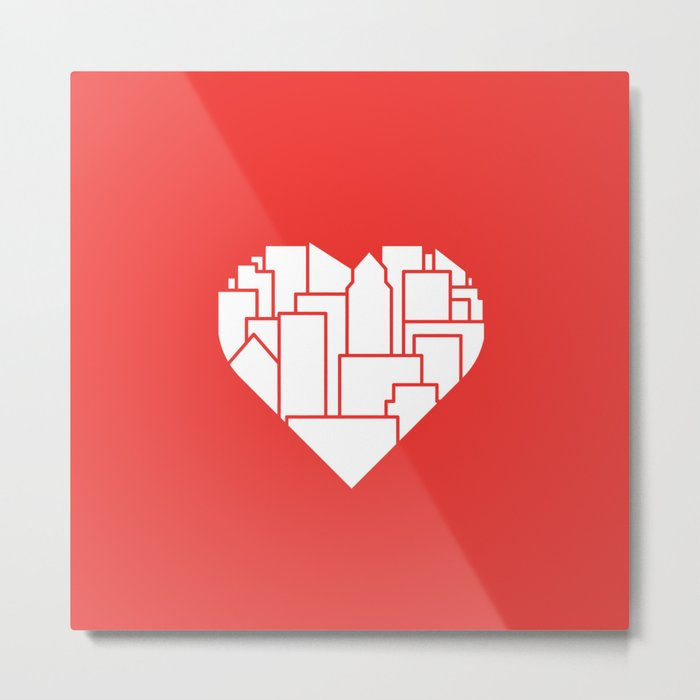 Heart of the City Redux Metal Print