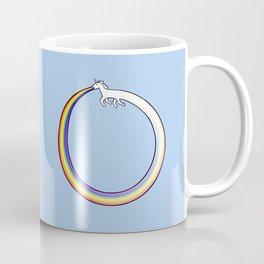 Ouroboros Unicorn Rainbow Vomit Coffee Mug