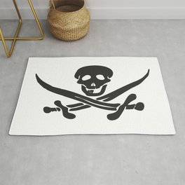 Black pattern for a Jolly Roger t-shirt Rug