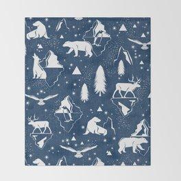 Arctic Circle - Blue Throw Blanket