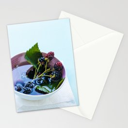 Bowl of Blackberries Stationery Cards