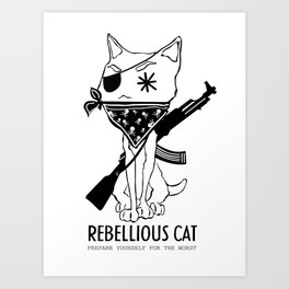 Rebellious Cat Art Print