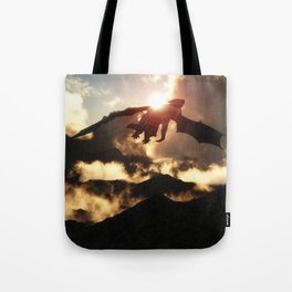 Volcanoes - Home of the Dragons Tote Bag