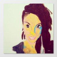 caitlin hackett Canvas Prints featuring Caitlin #facesilove by LAURENBROOKESANCHEZ Art & Photography