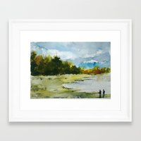 fishing Framed Art Prints featuring Fishing by Baris erdem