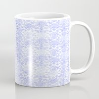 damask Mugs featuring Periwinkle Damask by SimplyChic