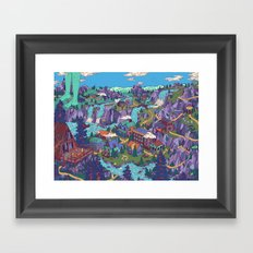 Try Not to Step on Anything This Time Framed Art Print