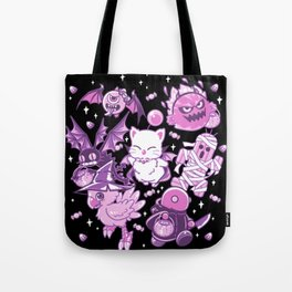 Final Fantasy Moogle Chocobo Tonberry Cactuar Bomb BatEye Gimme Cat Trick or treat Tote Bag