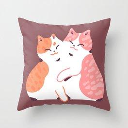 Cat Squish Throw Pillow