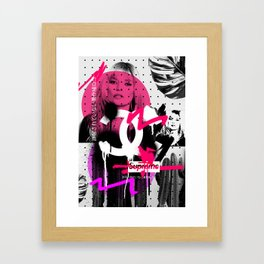 Kate Moss Logo Overdose Supreme Monstera Tropical Framed Art Print