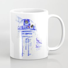 R2-D2 R2D2 droid watercolor Wars Scifi Star FAnart Mug