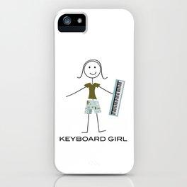 Funny Women Keyboard Girl iPhone Case