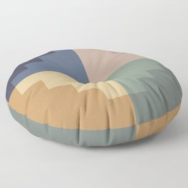 Geometric Color Block VIII Floor Pillow