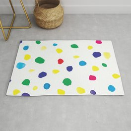 Watercolor bright dots in primary Rug