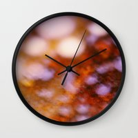 grease Wall Clocks featuring Bacon Grease OG by Lyssia Merrifield