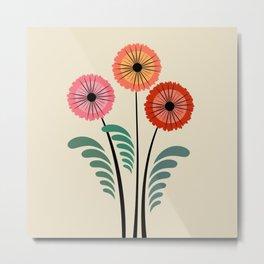 Retro flowers Metal Print