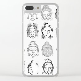 Many Buddhas Clear iPhone Case