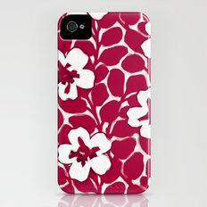 Painted Floral Red iPhone (4, 4s) Slim Case