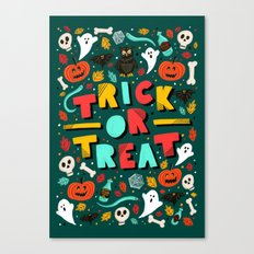 Trick or Treat Halloween Canvas Print