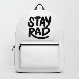 Stay Rad B&W Backpack