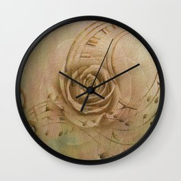 Timeless Love Abstract Wall Clock