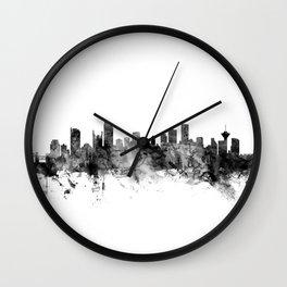 Vancouver Canada Skyline Wall Clock