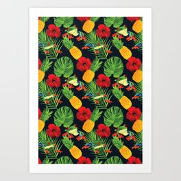 The Tropical Red Eyed Tree Frog Art Print