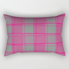 Juicy strokes of gray cells with jagged strawberry stripes and lines. Rectangular Pillow
