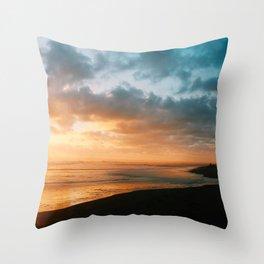 The last glow Throw Pillow