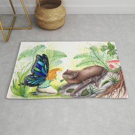 The fairy and the bat Rug